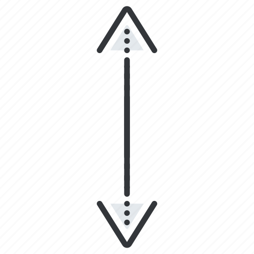 arrow, arrows, down, line, pointer, up icon