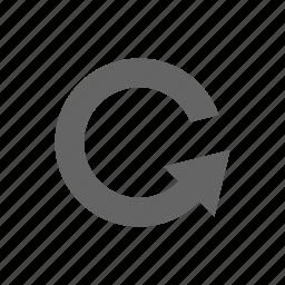 arrow, reload, turn, update icon