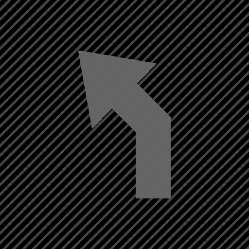 arrow, direction, turn icon