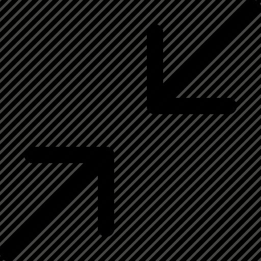 decrease, minimize, resize, shrink icon