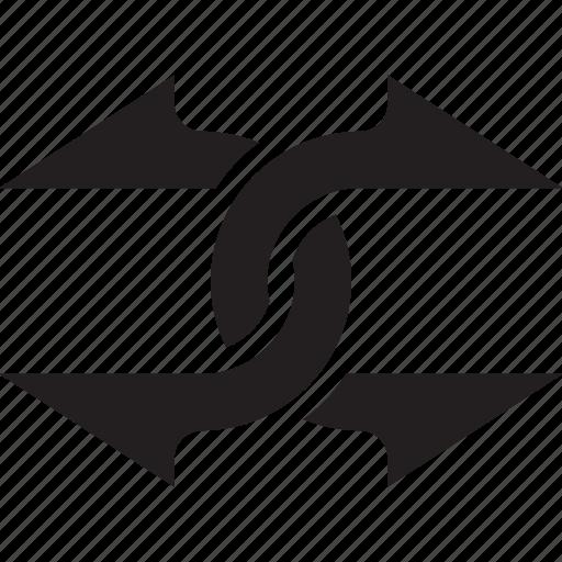 arrow, arrows, exchange, migrate icon