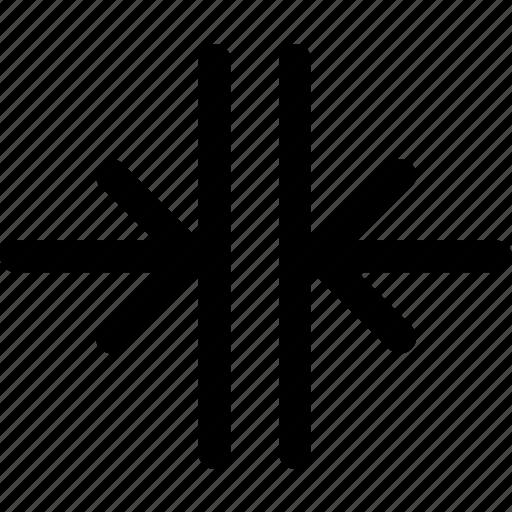 align, alignment, arrow, center, merge, vertical icon