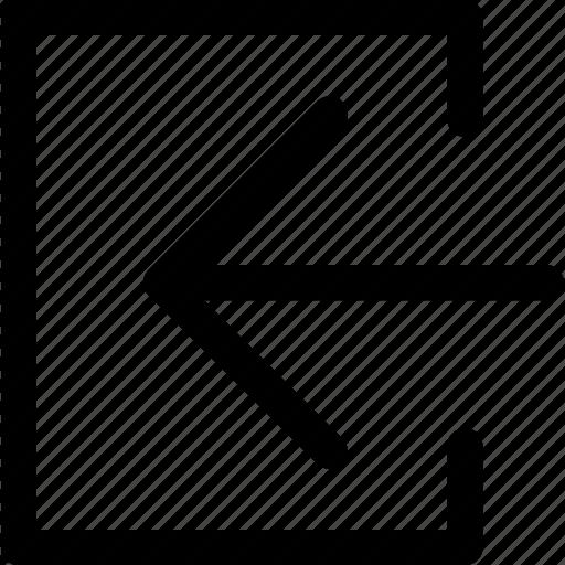 arrow, direction, entre, left, move, navigation icon