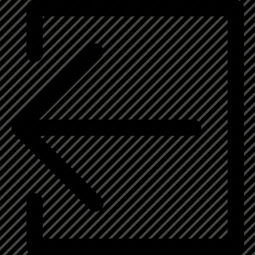 arrow, arrows, direction, exit, left, move, navigation icon