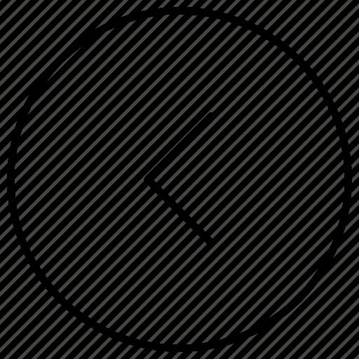 arrow, backward, circle, direction, left, left arrow, previous, rewind icon