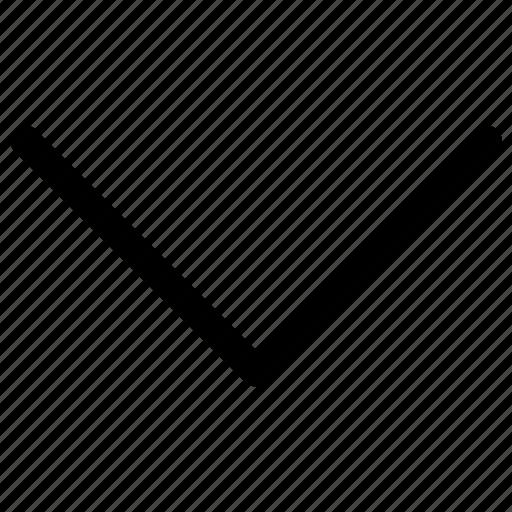 arrow, down, down arrow icon