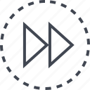 arrow, double, go, pointer icon