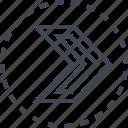 arrow, pointer, right, sleek icon