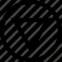 arrow, direction, down, point, pointer icon