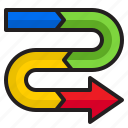 arrow, chart, element, diagram, infographic