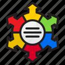 arrow, gear, element, diagram, infographic