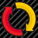 arrow, infographic, element, diagram, refresh