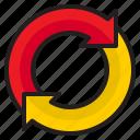 arrow, infographic, element, refresh, diagram