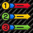 diagram, infographic, element, number, arrows