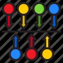 timeline, infographic, element, diagram, arrows