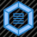 diagram, infographic, hexagon, chart, element