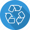 arrows, can, garbage, recycle, recycling, tin, trash icon