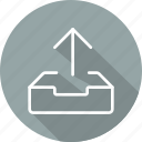 arrows, direction, multimedia option, orientation, up arrow, uploading icon