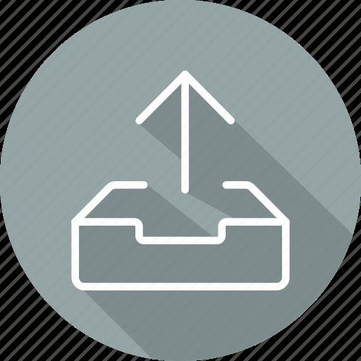 arrows, direction, multimedia option, orientation, up arrow, uploading icon