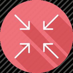 arrows, direction, interface, minimize, multimedia option, orientation icon