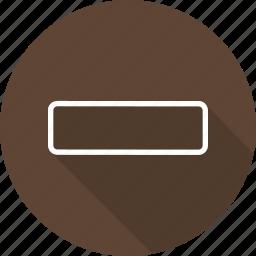 interface, line, mathematics, maths, minus, shapes and symbols, subtraction icon
