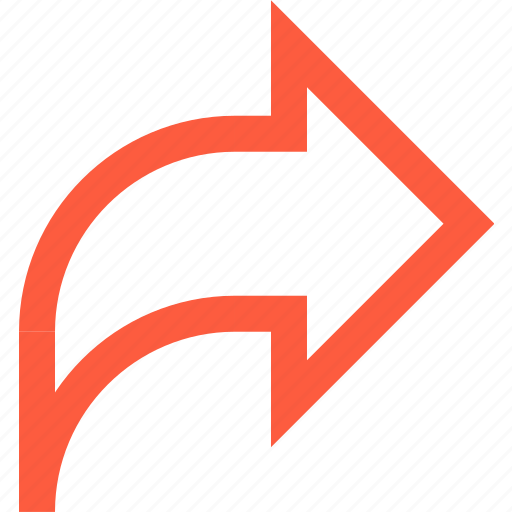 arrow, forward, interface, mail, resent, toolbar icon
