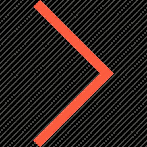 forward, interface, move, next, right, toolbar icon
