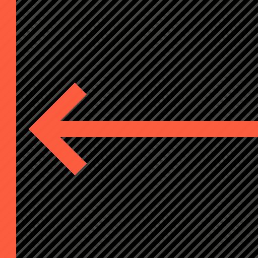 align, arrow, back, border, direction, left, pointer icon