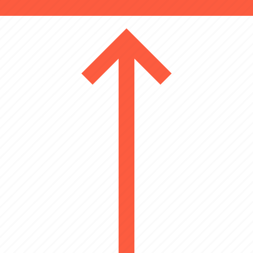 above, align, arrow, border, direction, top, up icon