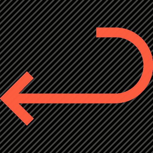 around, arrow, back, direction, pointer, turn icon