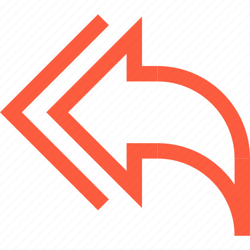 arrow, back, go, interface, mail, previous, reply icon