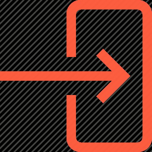 arrow, download, input, save, signal, toolbar icon
