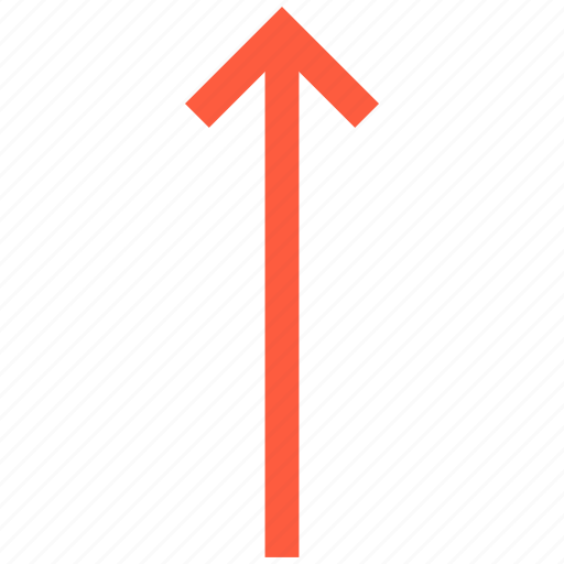 arrow, direction, pointer, top, up icon