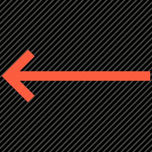 arrow, back, direction, left, pointer, previous icon