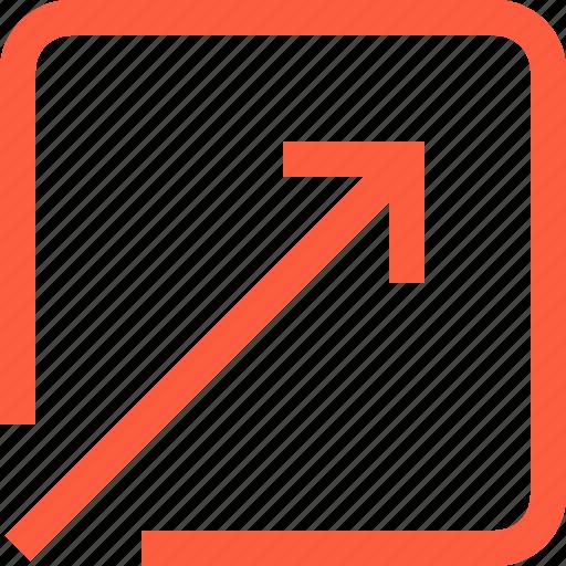 arrow, corner, diagonal, interface, receive, toolbar icon