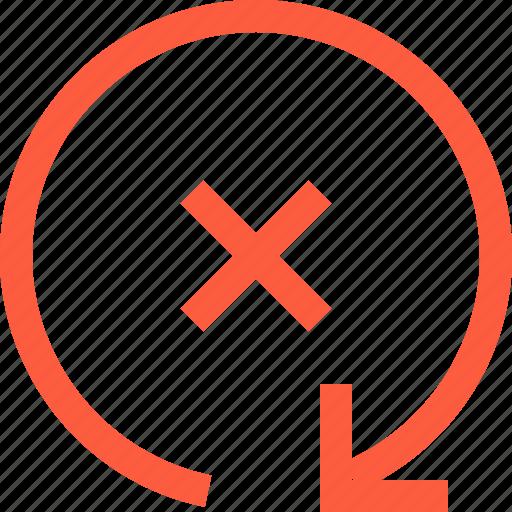 arrow, error, fail, interface, notification, reload, retry icon