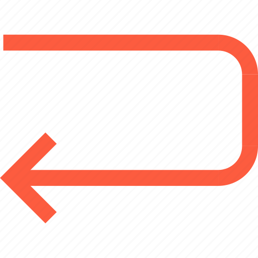 around, arrow, direction, pointer, return, turn icon