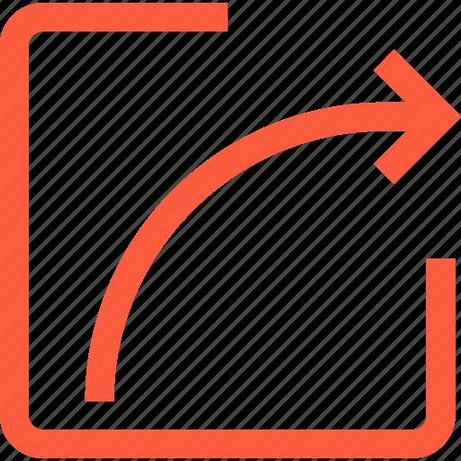 arrow, command, interface, share, toolbar, upload icon