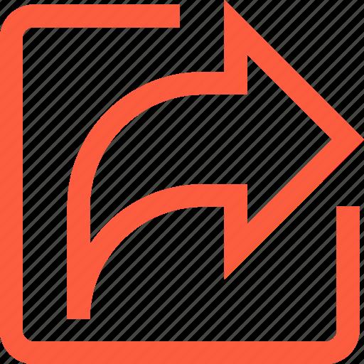 arrow, forward, interface, next, resent, share, toolbar icon