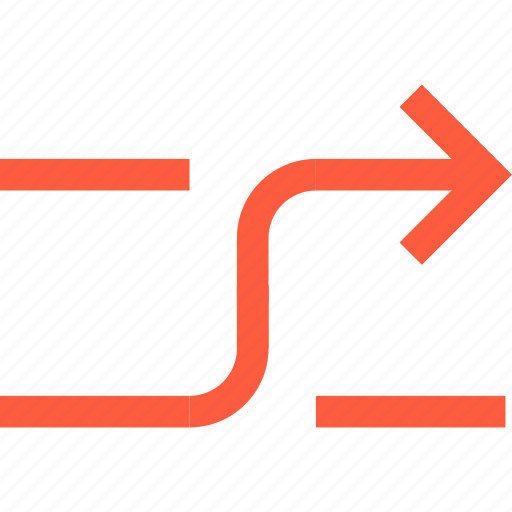 arrow, interface, random, shuffle, transition, turn icon