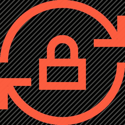 arrow, lock, permission, sync, synchronization, update icon