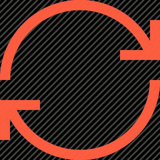 arrow, process, sync, synchronization, syncronize, update icon