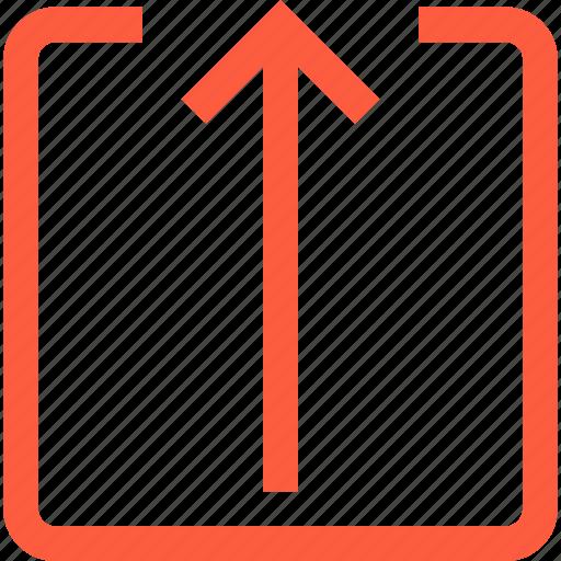 arrow, full, intreface, share, toolbar, upload icon
