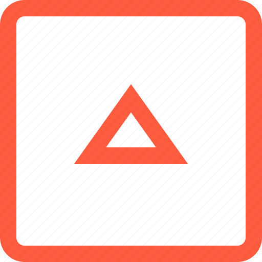 elevator, frame, shape, square, triangle, up icon