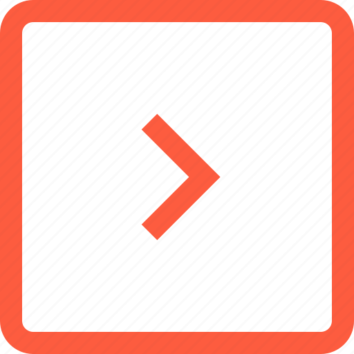 direction, forward, next, right, square, toolbar icon