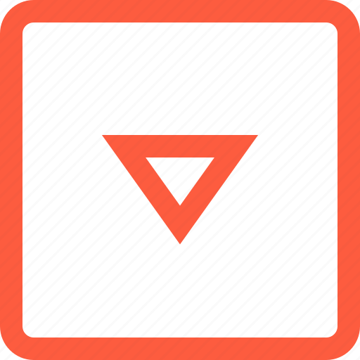 direction, down, elevator, pointer, toolbar, way icon
