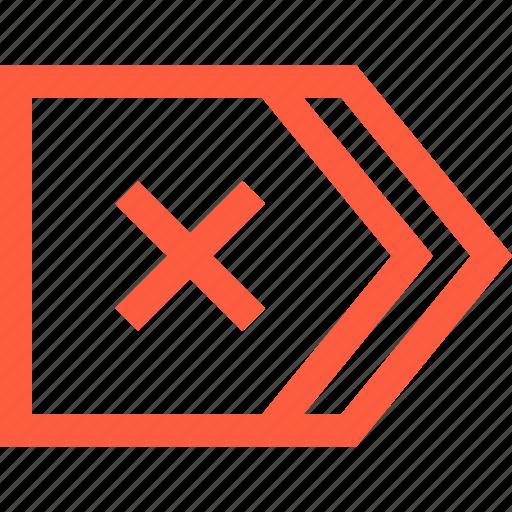 cancel, error, fail, interface, mark, toolbar icon