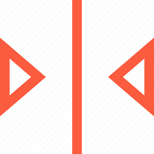 border, center, close, elevator, form, shape, triangle icon