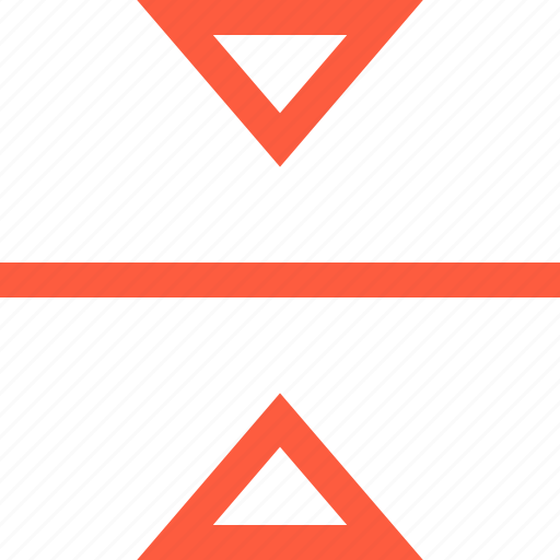between, border, demarcation, differentation, focus, triangle icon