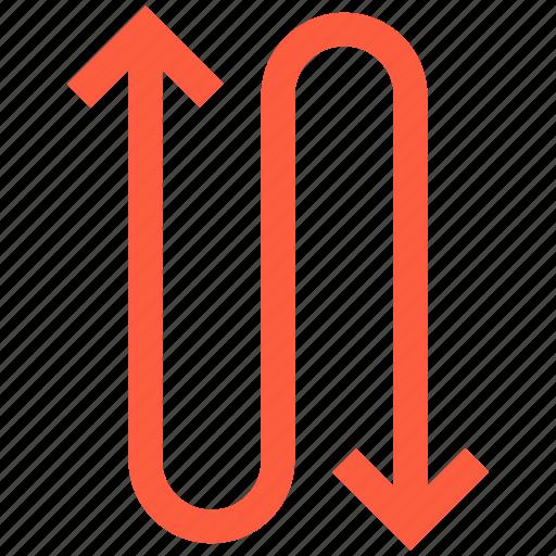 arrow, direction, path, pointer, steep, way icon